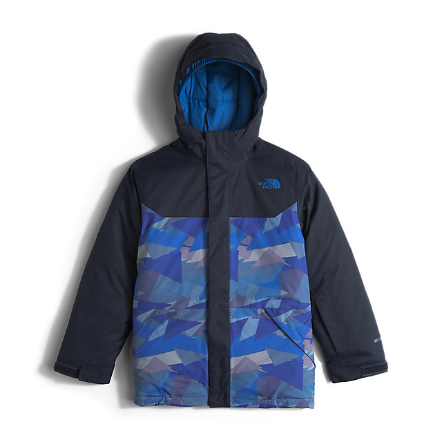 CHEAP NORTH FACE BOYS' BRAYDEN INSULATED JACKET JAKE BLUE GEO CAMO ONLINE