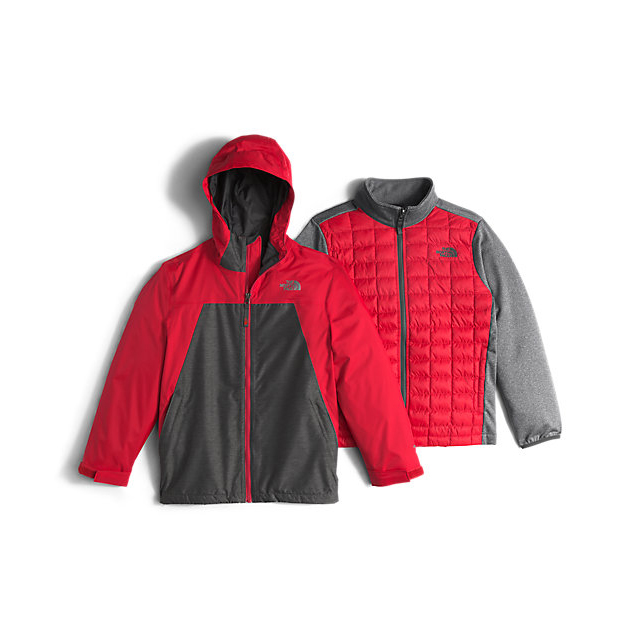 CHEAP NORTH FACE BOYS' THERMOBALL TRICLIMATE RED ONLINE