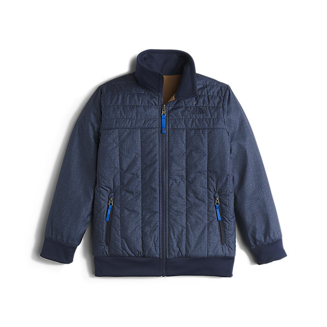 CHEAP NORTH FACE BOYS' REVERSIBLE YUKON JACKET COSMIC BLUE DENIM PRINT ONLINE