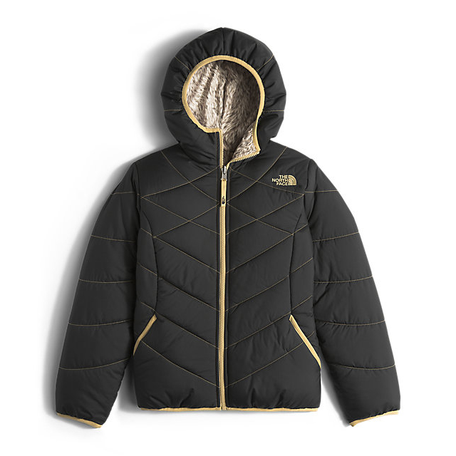 CHEAP NORTH FACE GIRLS' REVERSIBLE PERRITO JACKET BLACK ONLINE
