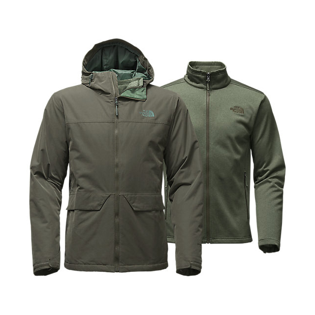 CHEAP NORTH FACE MEN'S CANYONLANDS TRICLIMATE  JACKET CLIMBING IVY GREEN ONLINE