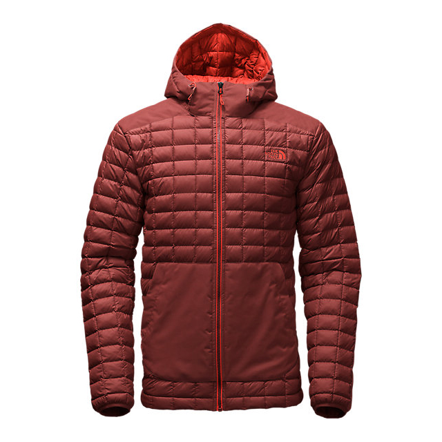 CHEAP NORTH FACE MEN'S THERMOBALL SNOW HOODIE HOT CHOCOLATE BROWN ONLINE