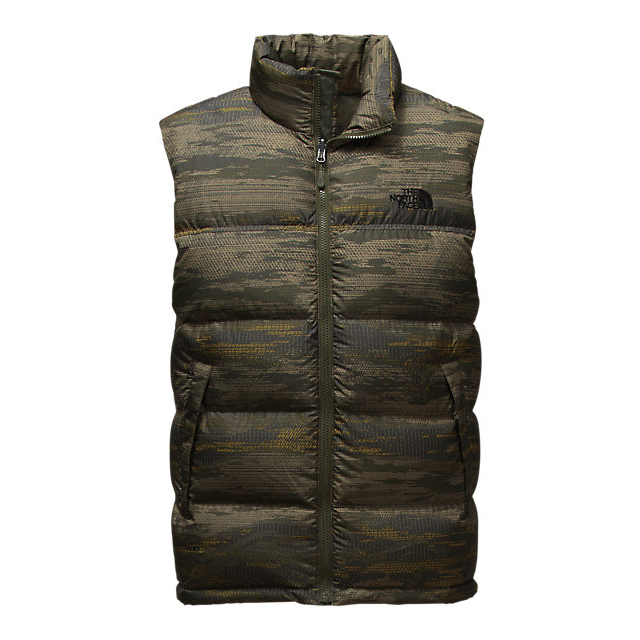 CHEAP NORTH FACE MEN'S NUPTSE VEST ROSIN GREEN GLAMO PRINT/ROSIN GREEN GLAMO PRINT ONLINE