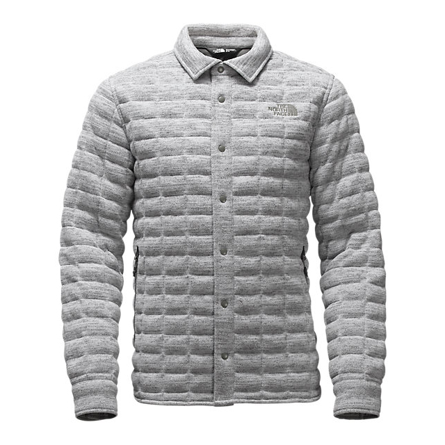 CHEAP NORTH FACE MEN'S KINGSTON THERMOBALL SHACKET LIGHT GREY HEATHER ONLINE