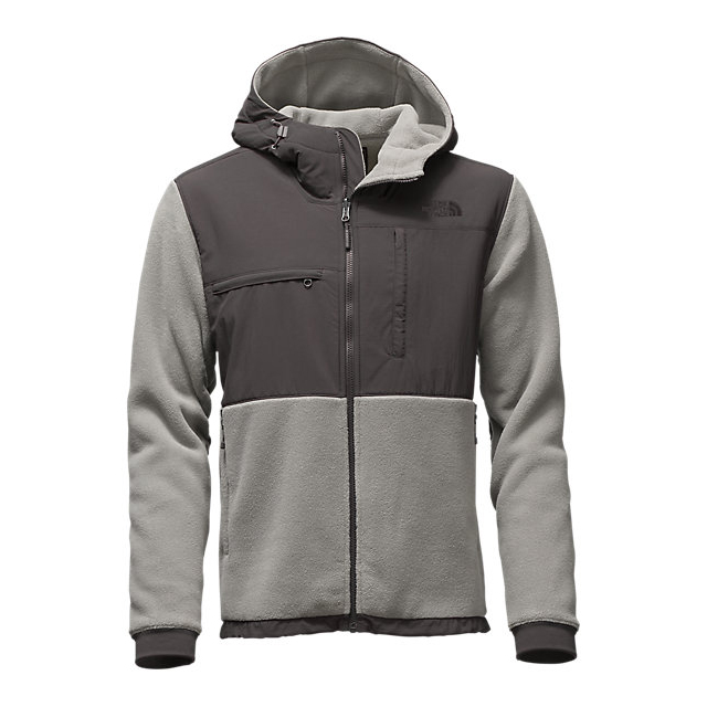 CHEAP NORTH FACE MEN'S DENALI 2 HOODIE RECYCLED MOONMIST GREY/ASPHALT GREY ONLINE