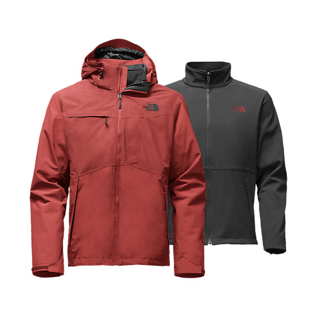 CHEAP NORTH FACE MEN'S CONDOR TRICLIMATE JACKET CARDINAL RED HEATHER/CARDINAL RED HEATHER ONLINE