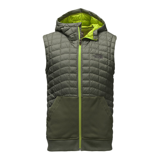 CHEAP NORTH FACE MEN'S KILOWATT THERMOBALL  VEST CLMBING IVY GREEN/CHIVE GREEN ONLINE