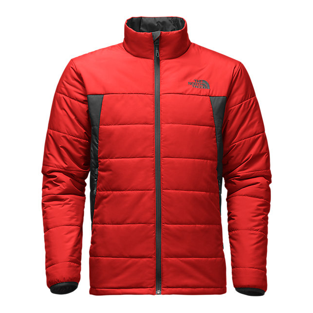 CHEAP NORTH FACE MEN'S BOMBAY JACKET FIERY RED / ASPHALT GREY ONLINE