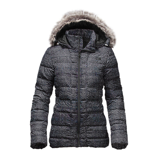 CHEAP NORTH FACE WOMEN'S GOTHAM DOWN JACKET BLACK DONEGAL PRINT ONLINE