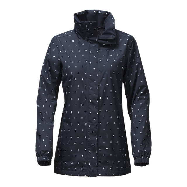 CHEAP NORTH FACE WOMEN'S RESOLVE PARKA URBAN NAVY UNCHARTED PRINT ONLINE