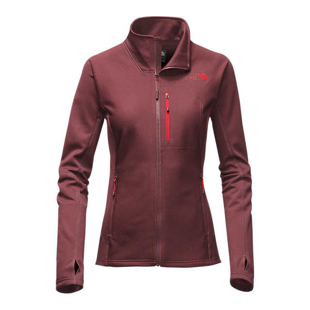 CHEAP NORTH FACE WOMEN'S FUSEFORM DOLOMITI FULL ZIP DEEP GARNET RED FUSE ONLINE