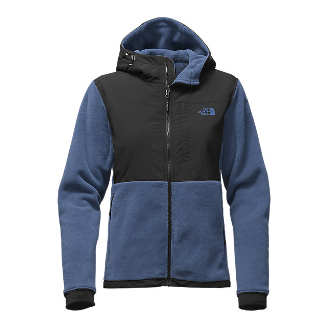 CHEAP NORTH FACE WOMEN'S DENALI 2 HOODIE SHADY BLUE/BLACK ONLINE