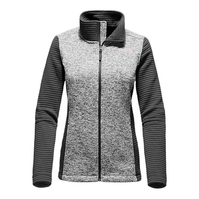 CHEAP NORTH FACE WOMEN'S INDI FULL ZIP JACKET LUNAR ICE GREY HEATHER/ASPHALT GREY ONLINE
