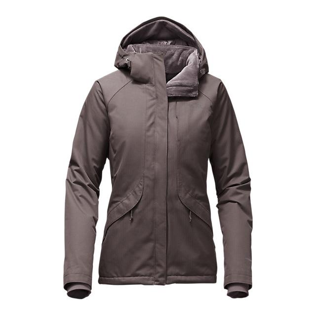 CHEAP NORTH FACE WOMEN'S INLUX INSULATED JACKET QUAIL GREY HEATHER ONLINE