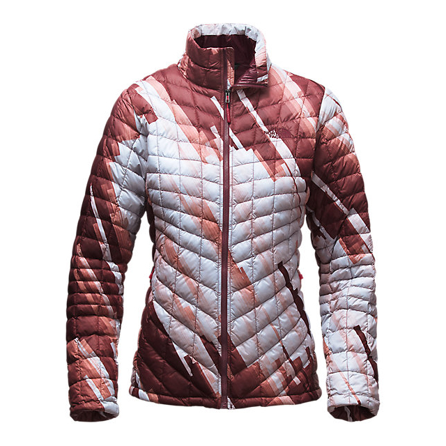 CHEAP NORTH FACE WOMEN'S THERMOBALL  FULL ZIP JACKET (EXCLUSIVE COLORS) DEEP GARNET RED STRATA PRINT ONLINE