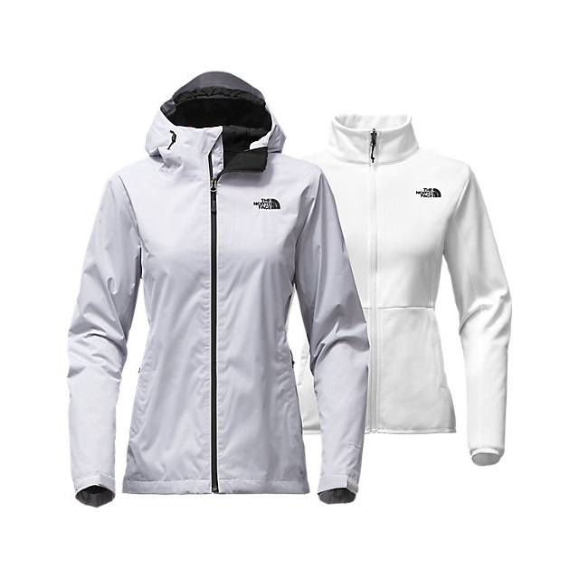 CHEAP NORTH FACE WOMEN'S ARROWOOD TRICLIMATE  JACKET WHITE DOBBY ONLINE