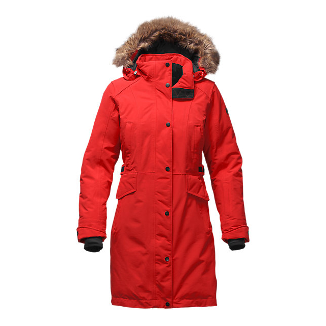 CHEAP NORTH FACE WOMEN'S TREMAYA PARKA HIGH RISK RED ONLINE